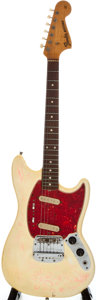 Musical Instruments:Electric Guitars, 1966 Fender Mustang White Solid Body Electric Guitar, Serial Number#140025....