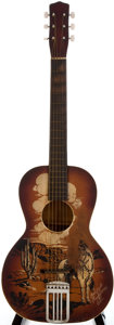 Musical Instruments:Acoustic Guitars, 1950's Silvertone Cowboy Sunburst Acoustic Guitar...