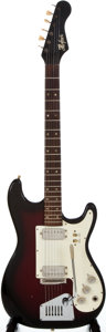 Musical Instruments:Electric Guitars, 1960's Hofner Redburst Solid Body Electric Guitar...