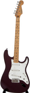 Musical Instruments:Electric Guitars, 1998 Fender Stratocaster MIM Refinished Solid Body Electric Guitar,Serial Number #MN8298814....
