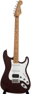Musical Instruments:Electric Guitars, 2000 Fender Stratocaster MIM Refinished Solid Body Electric Guitar,Serial Number #MZ0010828....