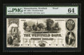 Obsoletes By State:Massachusetts, Westfield, MA- The Westfield Bank $20 G12 Proof. ...