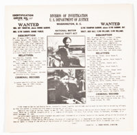 Bonnie and Clyde Wanted Poster