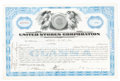 Miscellaneous:Ephemera, Two United Stores Stock Certificates....