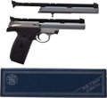Handguns:Semiautomatic Pistol, Smith & Wesson Model 22S Semi-Automatic Target Pistol Togetherwith Boxed Extra Barrel....