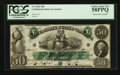 Confederate Notes:1861 Issues, T6 $50 1861 PF-1 Cr. 6 HOC.. ...
