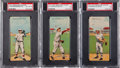 Baseball Cards:Lots, 1911 T201 Mecca Double Folders PSA-Graded Trio (3). ...