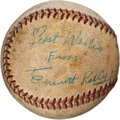 Autographs:Baseballs, Circa 1956 Emmett Kelly Single Signed Baseball....