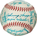 Autographs:Baseballs, 1948 Pittsburgh Pirates Team Signed Baseball with Honus Wagner....