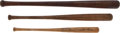 Baseball Collectibles:Others, 1930's-40's Commemorative Mini Bats Lot of 3....