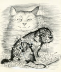 Books:Original Art, Garth Williams. (American, 1912-1996) Harry Cat's Pet Puppy,original cover art. [N.p., n.d., ca. 1973]. Pen on pape...(Total: 7 Items)