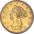 Liberty Eagles, 1851-O $10 AU58 PCGS. CAC. Variety 1....