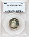 Proof Seated Quarters, 1891 25C PR64 Deep Cameo PCGS....
