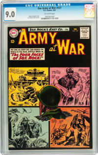 Our Army at War #127 (DC, 1963) CGC VF/NM 9.0 Off-white pages