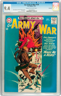 Our Army at War #136 Savannah pedigree (DC, 1963) CGC NM 9.4 Cream to off-white pages