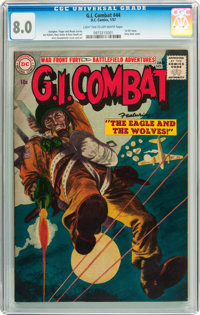 G.I. Combat #44 (DC, 1957) CGC VF 8.0 Light tan to off-white pages