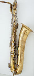 Musical Instruments:Horns & Wind Instruments, Buescher 400 Brass Baritone Saxophone, Serial Number #588030....