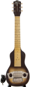 Musical Instruments:Lap Steel Guitars, 1950's Silvertone Brown Lap Steel Guitar...