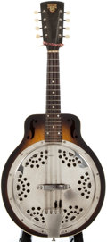 Musical Instruments:Banjos, Mandolins, & Ukes, Circa 1937 Dobro Resonator Sunburst Mandolin, Serial Number #A1107....