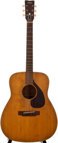 Musical Instruments:Acoustic Guitars, Yamaha FG-140 Natural Acoustic Guitar, Serial Number #T103074....