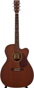 Musical Instruments:Acoustic Guitars, 2001 Martin JC-15E Mahogany Archtop Electric Guitar, Serial Number#813067....