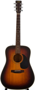 Musical Instruments:Acoustic Guitars, 1980's Sigma by Martin DM-3S Sunburst Acoustic Guitar, SerialNumber #240641....