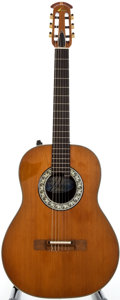 Musical Instruments:Acoustic Guitars, 1970's Ovation 1614 Natural Acoustic Electric Guitar, Serial Number#240403....