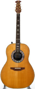 Musical Instruments:Acoustic Guitars, Ovation 1619-Custom Legend Natural Acoustic Electric Guitar, SerialNumber #235152....