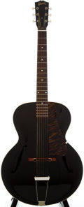 Musical Instruments:Acoustic Guitars, 1940's Gibson J-45 Black Archtop Acoustic Guitar, Serial Number #339A....