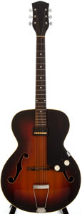 Musical Instruments:Electric Guitars, 1954 National 1125-Dynamic Sunburst Archtop Electric Guitar, Serial Number #X30449....