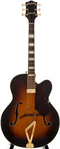 Musical Instruments:Electric Guitars, 1954 Gretsch Synchromatic Sunburst Semi-Hollow Body ElectricGuitar, Serial Number #10310....