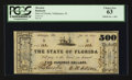 Obsoletes By State:Florida, Tallahassee, FL- State of Florida $500 Jan. 1, 1865 Cr. 44. ...
