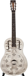 Musical Instruments:Resonator Guitars, 1933 National Style O Nickel Resonator Guitar, Serial # S3227...
