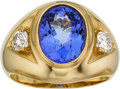 Estate Jewelry:Rings, Gentleman's Tanzanite, Diamond, Gold Ring. ...