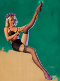 Pin-up and Glamour Art, ZOE MOZERT (American, 1904-1993). A Run on Sugar, Brown &Bigelow calendar illustration, 1948. Pastel on board. 22.5 x1... (Total: 2 Items)