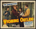 """Movie Posters:Western, Wyoming Outlaw (Republic, 1939). Title Lobby Card (11"""" X 14""""). Western.. ..."""