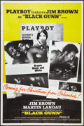 "Movie Posters:Blaxploitation, Black Gunn (Columbia, 1972). Playboy Promo Poster (40"" X 60"")Advance. Blaxploitation.. ..."