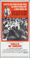 "Movie Posters:Drama, Halls of Anger (United Artists, 1970). Three Sheet (41"" X 81""). Drama.. ..."