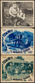 "Movie Posters:Serial, The Miracle Rider and Other Lot (Mascot, 1935). Lobby Cards (3)(11"" X 14"") Chapter 2 - - ""The Firebird Strikes,"" and Chapte...(Total: 3 Items)"