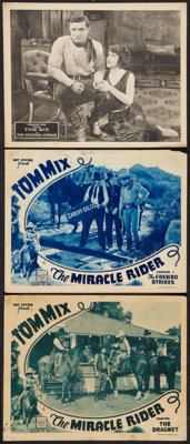 """The Miracle Rider and Other Lot (Mascot, 1935). Lobby Cards (3) (11"""" X 14"""") Chapter 2 - - """"The Firebird S..."""