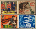 "Movie Posters:Adventure, Northwest Rangers and Others Lot (MGM, 1942). Title Lobby Cards (2)and Lobby Cards (2) (11"" X 14""). Adventure.. ... (Total: 4 Items)"