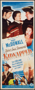 "Movie Posters:Adventure, Kidnapped (Monogram, 1948). Insert (14"" X 36""). Adventure.. ..."