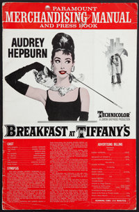 """Breakfast at Tiffany's (Paramount, 1961). Pressbook (16 Pages, 12"""" X 19""""). Romance"""