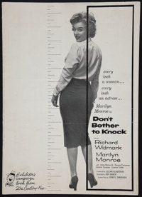 """Don't Bother to Knock (20th Century Fox, 1952). Uncut Pressbook (20 Pages, 11"""" X 15.25""""). Thriller"""