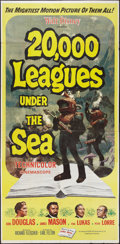 "Movie Posters:Science Fiction, 20,000 Leagues Under the Sea (Buena Vista, R-1963). Three Sheet(41"" X 84""). Science Fiction.. ..."