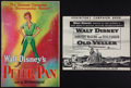 """Movie Posters:Animated, Peter Pan & Other Lot (RKO, 1953). Uncut Pressbooks (2) (Multiple Pages, 12"""" X 18"""" & 11.25"""" X 14""""). Animated.. ... (Total: 2 Items)"""
