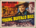 "Movie Posters:Western, Young Buffalo Bill (Republic, 1940). Half Sheet (22"" X 28"") StyleA. Western.. ..."
