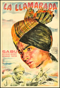"Movie Posters:Adventure, Drums (United Artists, 1943). Argentinean Poster (29.5"" X 43.5"").Adventure.. ..."
