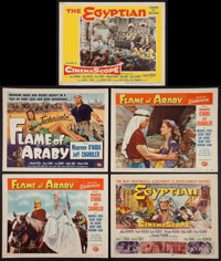 "Flame of Araby and Others Lot (Universal International, 1951). Title Lobby Cards (3) and Lobby Cards (6) (11"" X 14&..."
