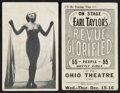 """Movie Posters:Sexploitation, Earl Taylor's Revue Glorified (Ohio Theatre, 1937). AdvertisementCards (2) (3.5"""" X 5.5"""") & Sheet Music (4 Pages, 8.5"""" X 11....(Total: 3 Items)"""